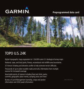 Garmin Region South West 24K Topo Map Card