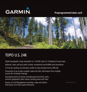 Garmin Region North East 24K Topo Map Card