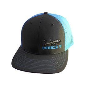 Double U Richardson 112 Grey with Neon Blue Mesh Cap