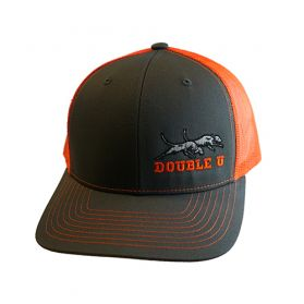 Double U Richardson 112 Grey with Orange Mesh Cap