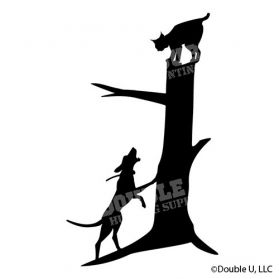 Bobcat Treed Decal Simple Silhouette