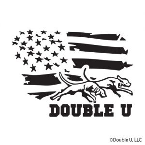 Double U Ol' Glory American Flag Decal