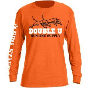 Double U Hunting Supply Safety Orange Pro Staff Long Sleeve T-Shirt