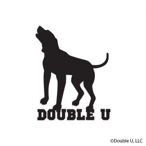 Double U Standing Dog Decal