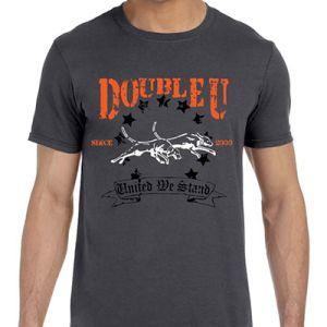 Charcoal Grey Double U United Running Dog T-Shirt