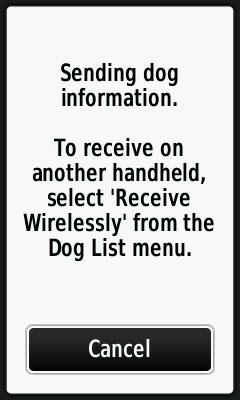 Alpha Share Dog Information Wirelessly